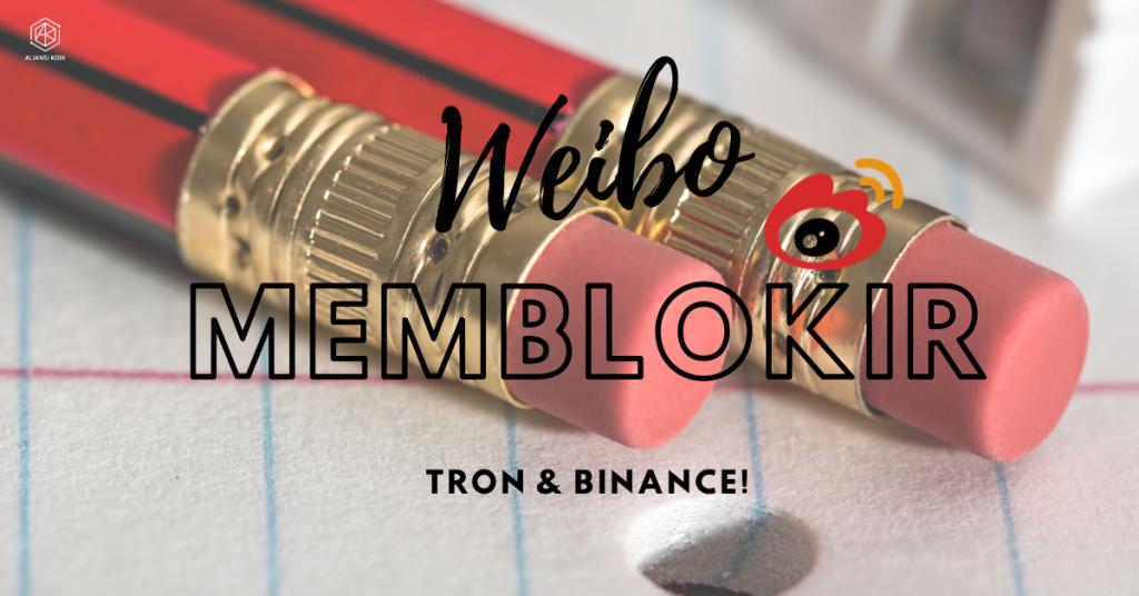 Weibo Memblokir TRON dan Binance